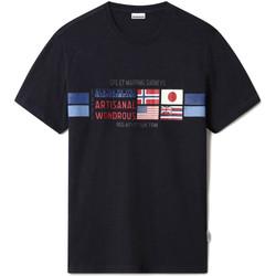 Textiel Heren T-shirts korte mouwen Napapijri NP0A4F6J Blauw
