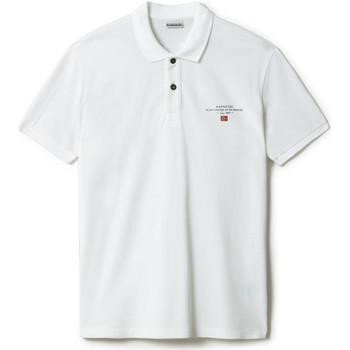Textiel Heren Polo's korte mouwen Napapijri NP0A4FA2 Wit
