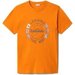 Textiel Heren T-shirts korte mouwen Napapijri NP0A4F6P Oranje