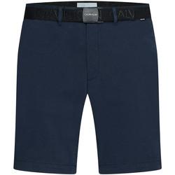 Textiel Heren Korte broeken / Bermuda's Calvin Klein Jeans K10K107164 Blauw