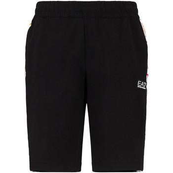 Textiel Heren Korte broeken / Bermuda's Ea7 Emporio Armani 3KPS81 PJ05Z Zwart
