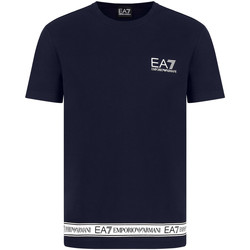 Textiel Heren T-shirts korte mouwen Ea7 Emporio Armani 3KPT05 PJ03Z Blauw