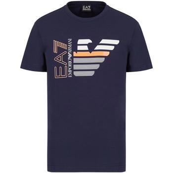 Textiel Heren T-shirts korte mouwen Ea7 Emporio Armani 3KPT22 PJ6EZ Blauw