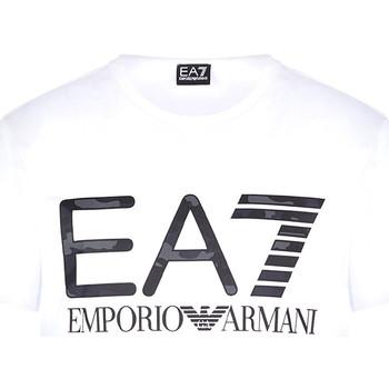 Textiel Heren T-shirts korte mouwen Ea7 Emporio Armani 3KPT27 PJ7CZ Wit