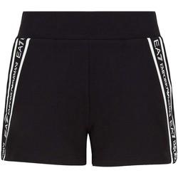 Textiel Dames Korte broeken / Bermuda's Ea7 Emporio Armani 3KTS59 TJ5FZ Zwart