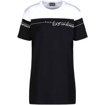 Textiel Dames T-shirts korte mouwen Ea7 Emporio Armani 3KTT59 TJBEZ Zwart