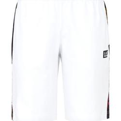 Textiel Heren Zwembroeken/ Zwemshorts Ea7 Emporio Armani 3KPS81 PJ05Z Wit