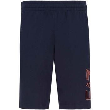 Textiel Heren Korte broeken / Bermuda's Ea7 Emporio Armani 3KPS57 PJ05Z Blauw