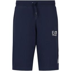 Textiel Heren Korte broeken / Bermuda's Ea7 Emporio Armani 3KPS67 PJ05Z Blauw