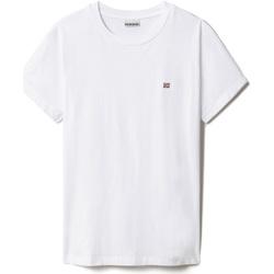 Textiel Dames T-shirts korte mouwen Napapijri NP0A4FAC Wit