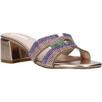 Schoenen Dames Leren slippers Gold&gold A21 GD320 Roze