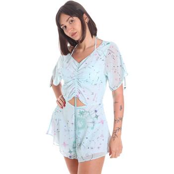 Textiel Dames Jumpsuites / Tuinbroeken Me Fui M20-1058X1 Blauw