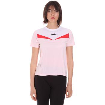 Textiel Dames T-shirts korte mouwen Diadora 102175659 Roze