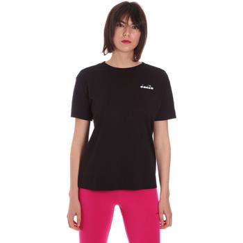 Textiel Dames T-shirts korte mouwen Diadora 102175873 Zwart