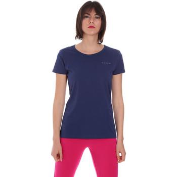 Textiel Dames T-shirts korte mouwen Diadora 102175886 Blauw