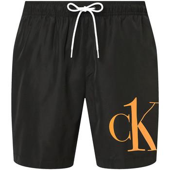 Textiel Heren Korte broeken / Bermuda's Calvin Klein Jeans KM0KM00590 Zwart
