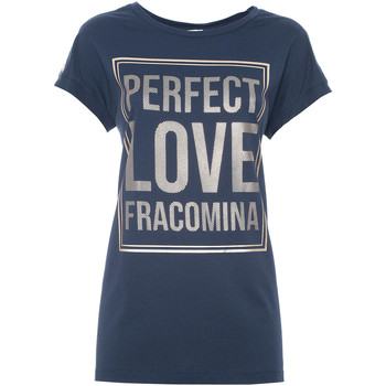 Textiel Dames T-shirts korte mouwen Fracomina FR21ST3012J40615 Blauw