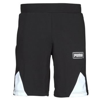 Textiel Heren Korte broeken / Bermuda's Puma RBL SHORTS Zwart / Wit