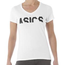 Textiel Dames T-shirts korte mouwen Asics  Wit