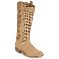 Schoenen Dames Hoge laarzen Betty London DIVOUI  CAMEL