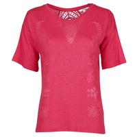 Textiel Dames T-shirts korte mouwen Desigual CLEMENTINE Rood