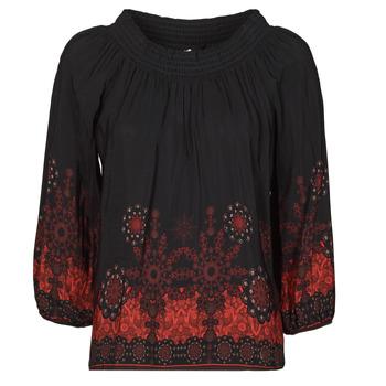Textiel Dames Tops / Blousjes Desigual EIRE Zwart / Rood