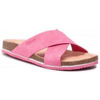 Schoenen Dames Leren slippers Big Star HH274597 Rose