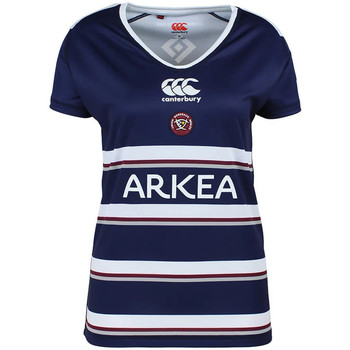 Textiel Dames T-shirts korte mouwen Canterbury  Blauw