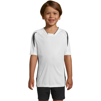 Textiel Kinderen T-shirts korte mouwen Sols Maracana - CAMISETA NIÑO MANGA CORTA Blanco
