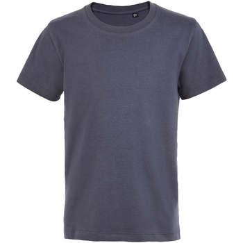 Textiel Kinderen T-shirts korte mouwen Sols Camiseta de niño con cuello redondo Gris