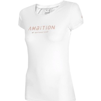 Textiel Dames T-shirts korte mouwen 4F TSD033 Blanc