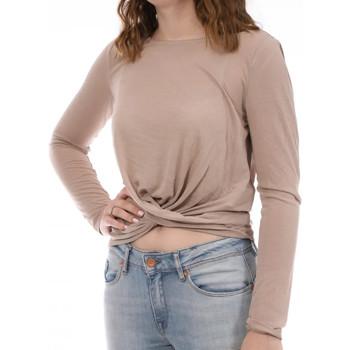 Textiel Dames T-shirts met lange mouwen Vila  Beige