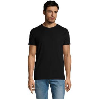 Textiel Heren T-shirts korte mouwen Sols Martin camiseta de hombre Negro