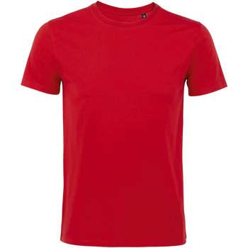 Textiel Heren T-shirts korte mouwen Sols Martin camiseta de hombre Rojo
