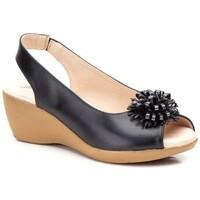 Schoenen Dames Sandalen / Open schoenen Cbp - Conbuenpie Sandalias de piel con cuña by CBP Noir