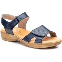 Schoenen Dames Sandalen / Open schoenen Cbp - Conbuenpie Sandalias de piel de mujer con cuña by Morxiva Bleu