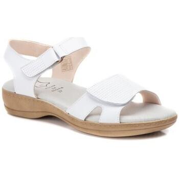 Schoenen Dames Sandalen / Open schoenen Cbp - Conbuenpie Sandalias de piel de mujer con cuña by Morxiva Blanc