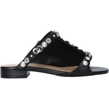Schoenen Dames Leren slippers Apepazza S0PETIT09/LEA Zwart