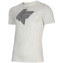 Textiel Heren T-shirts korte mouwen 4F TSM010 Blanc