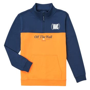 Textiel Meisjes Sweaters / Sweatshirts Vans SOLAL Blauw / Geel