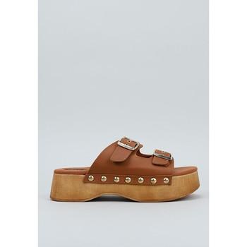 Schoenen Dames Leren slippers Krack  Brown