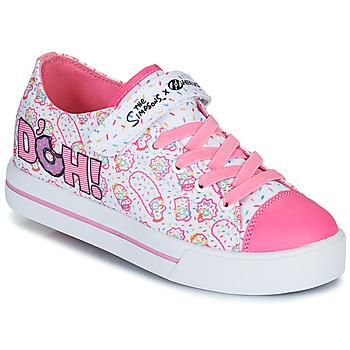 Schoenen Kinderen Schoenen met wieltjes Heelys SNAZZY Wit / Roze / Lavande