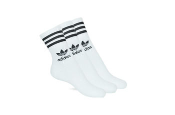 Accessoires High socks adidas Originals MID CUT CRW X 3 Wit