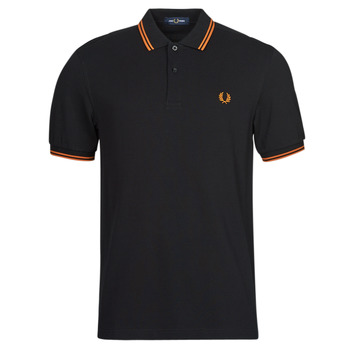 Textiel Heren Polo's korte mouwen Fred Perry TWIN TIPPED FRED PERRY SHIRT Zwart