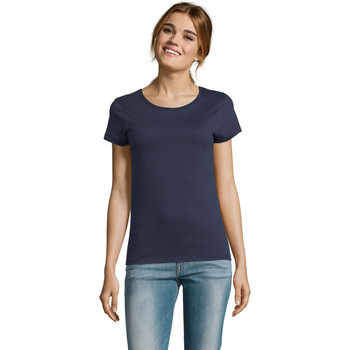 Textiel Dames T-shirts korte mouwen Sols CAMISETA DE MANGA CORTA Azul