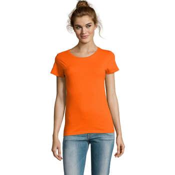 Textiel Dames T-shirts korte mouwen Sols CAMISETA DE MANGA CORTA Naranja