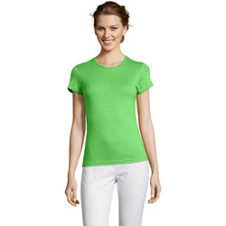 Textiel Dames T-shirts korte mouwen Sols Miss camiseta manga corta mujer Verde
