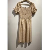 Textiel Dames Korte jurken Fashion brands 53176-BEIGE Beige