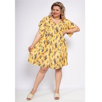 Textiel Dames Korte jurken Fashion brands DIABOLE-COLOR-ONE-JAUNE Geel