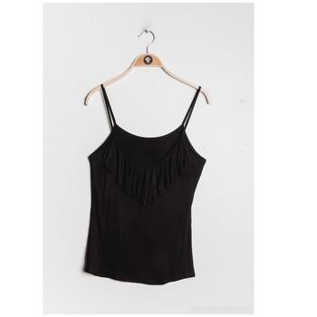 Textiel Dames Tops / Blousjes Fashion brands D852-BLACK Zwart
